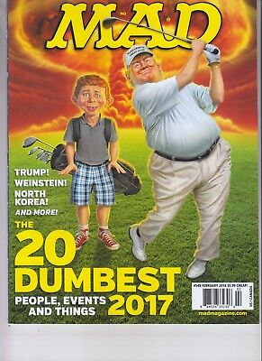 2017 Top 20 Dumbest Mad Magazine February 2018 No Label Donald Trump Weinstein