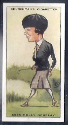 Churchman-Prominent Golf Ers (Standard Size)-#15- Miss Molly Gourlay
