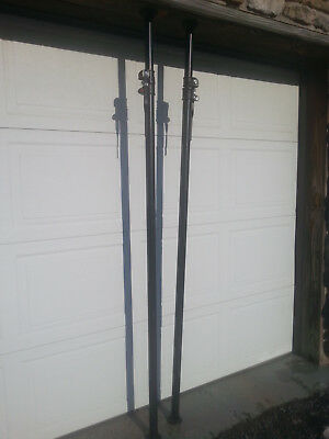 """Pair of Manfrotto Autopoles 82""""-146"""" black good condition include 4 rubber feet"""