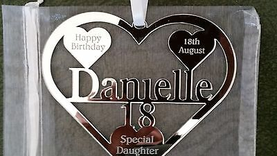 BIRTH DATE NAOMI KEEPSAKE 16TH 18TH   BIRTHDAY GIFT PERSONALISED WITH NAME
