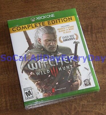 Witcher III 3 Wild Hunt COMPLETE Edition w/ Both Expan +16 DLCs (Xbox 1 One) NEW
