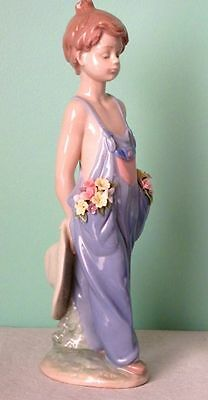 "Lladro RARE ""POCKET FULL OF WISHES""  #7650 Large 10"" Porcelain Retired Figurine"
