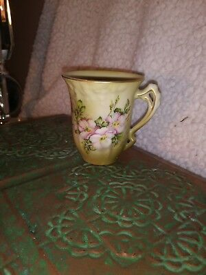 Antique Nippon hand painted tea cup encrusted with gold stunning piece !!!!
