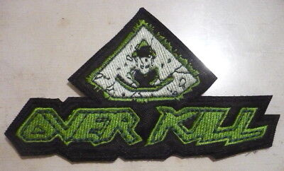 OVERKILL Horroscope Band Logo SMALL SHAPED EMBROIDERED PATCH CD Thrash Metal