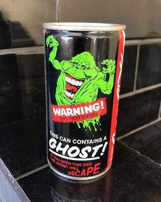 COCA-COLA COKE GHOSTBUSTERS VINTAGE Collector Soda Soft Drink Can 1989
