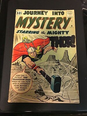 Journey into Mystery #86 (Nov 1962, Marvel) - Poor/Fair Thor - first full Odin