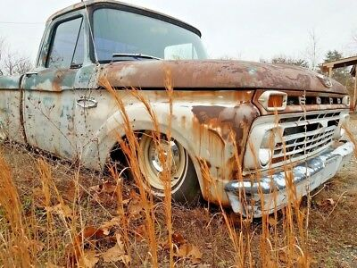 1966 Ford F-100  1966 Ford F-100 Bagged Rat Rod Shop Truck Modern Chassis
