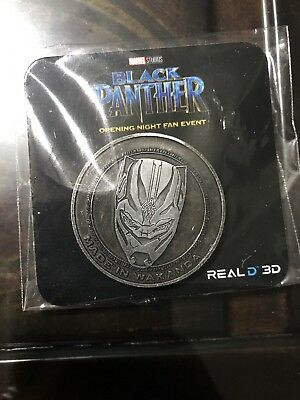 Marvel Black Panther Exclusive COIN Opening Night Fan Event REGAL Theatres RARE