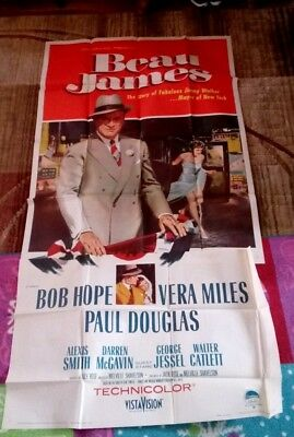 Beau James Bob Hope Vera Miles vintage movie poster #1