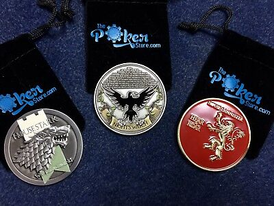 LOT 3 Game of Thrones (GoT) Poker Card Guard Protectors Lannister, Stark - NEW!