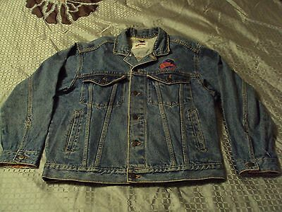 Vtg Planet Hollywood ORLANDO Size S Blue Cotton Jean Denim Trucker Style Jacket