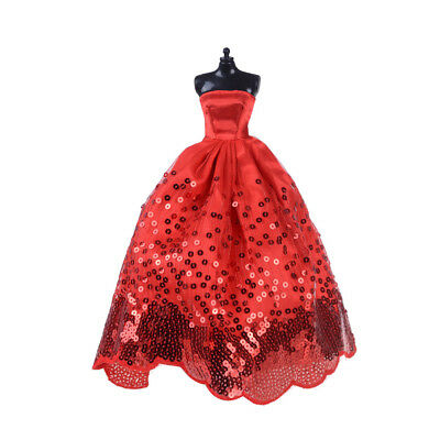 Fashion Party Princess Dress/Evening Clothes/Gown For Barbie Doll HU