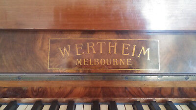 Wertheim concert piano and stool. Made in Melbourne.