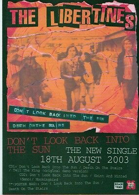 The LIBERTINES Don't Look Back...2-sided Promotional Postcard 6x4 inches