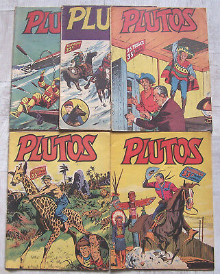 PLUTOS lot de 5 num. 1954 LUG BD 37, 42, 43, 48 et 51 BE
