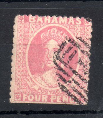 Bahamas 1862 4d dull rose no WMK fine used Perf 12.5 & 13 WS7651