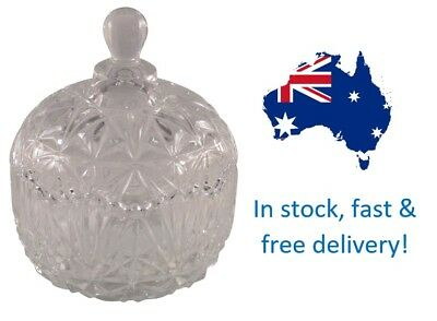 9 x Bolero Crystal Glass Candle Jars with Lids FREE DELIVERY