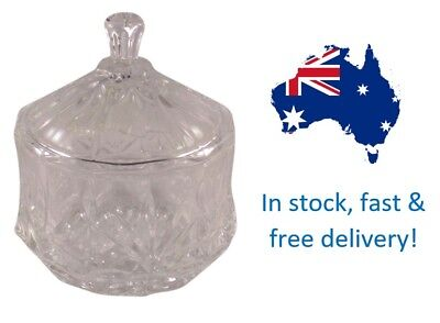 9 x Confetto Crystal Glass Candle Jars with Lids FREE DELIVERY