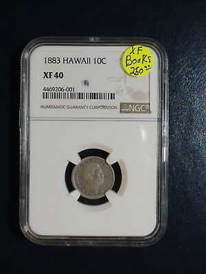 1883 HAWAII DIME NGC XF40 SILVER 10C Coin PRICED TO SELL NOW!