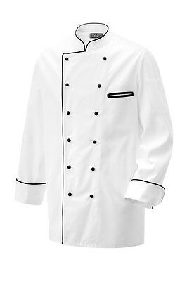 Chef Jacket with Colourful Piping Piping Chef's Jacket Long Sleeve New