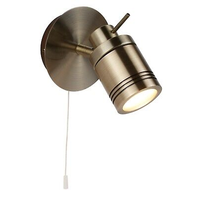 Searchlight 6601ab Antique Brass Finish Bathroom Adjustable Spot Wall Light