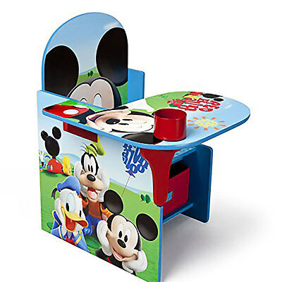 Delta Children Disney Mickey Mouse Kid Furniture Chair Desk with Storage Bin