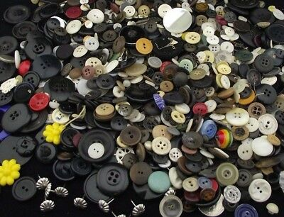 Antique Vintage Button Lot 2 Lbs Crafts Or Clothing Restoration