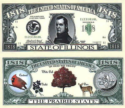 ILLINOIS, STATE OF, Novelty Bill, Funny Money
