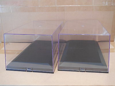 2 X 1/18 Scale Exclusive Cars Acrylic Display Cases  For 1/18 Scale Models