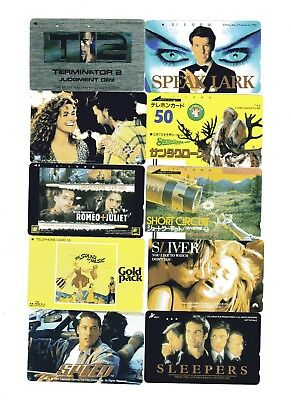10 phone cards of Various Movies (Asian)10
