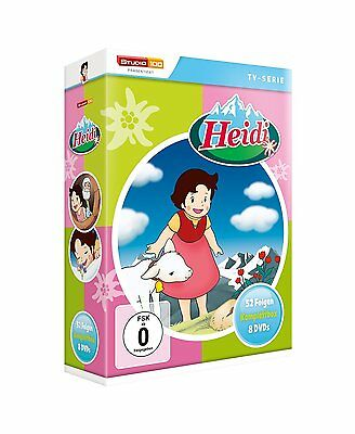Heidi - TV-Serien Komplettbox [8x DVD] DEUTSCH *NEU* Alle 52 Episoden auf DVD
