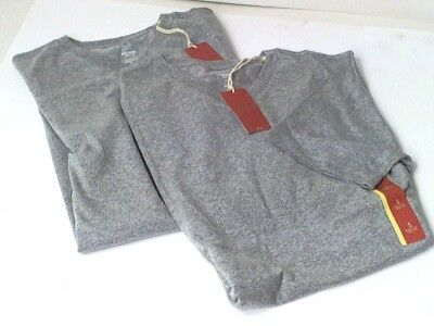 Pair Mossimo Athletic Fit Small V-Neck Tee Hardware Grey New With Tags--Two Pack
