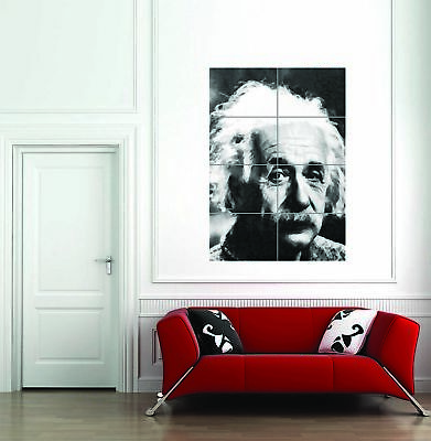 Albert Einstein Physicist Genius Giant Art Print Home Decor Poster