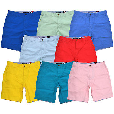 Tommy Hilfiger Chino Shorts Mens Flat Front 9 Inch Inseasm Bottoms Casual New