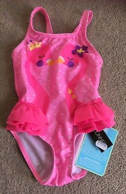 Baby Girls Flamingo Print Swimsuit 12-18 Months BNWT