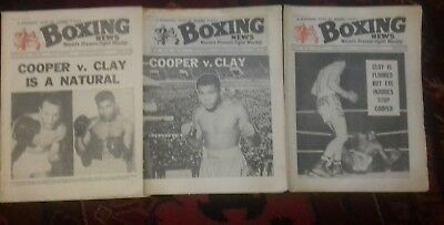 3 X Boxing News Magazines , Cassius Clay V Henry Cooper , Great Covers 1963