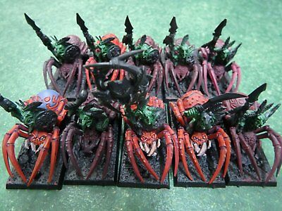 Warhammer Fantasy FOREST GOBLIN SPIDER RIDERS Unit (10) Painted Orcs Army GW AOS
