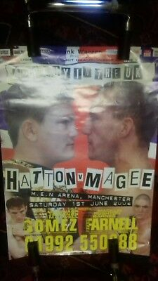 Original On Site Boxing Poster, Ricky Hatton V Eamonn Magee,manchester 2004