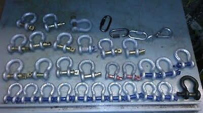 mixed lot of  shackles