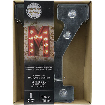 """Silver Metal Marquee Letter 9.875""""-Y"""