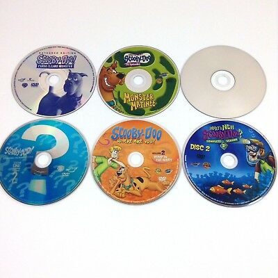 Scooby Doo Cartoon DVD Movie Lot Includes TV Series Season Discs Only No Cases