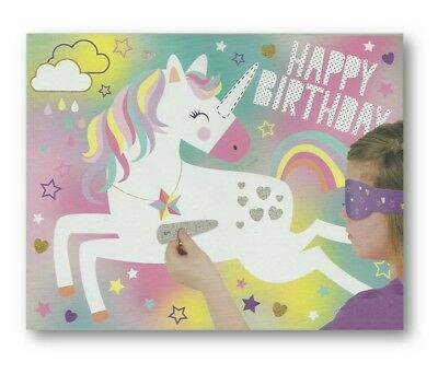 Children's Unicorn Pin Tail on The Donkey Style Kids Birthday Party Game