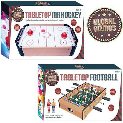 Wooden Mini Table Top Football Air Hockey Soccer Kids Family Game Toy Set Gift