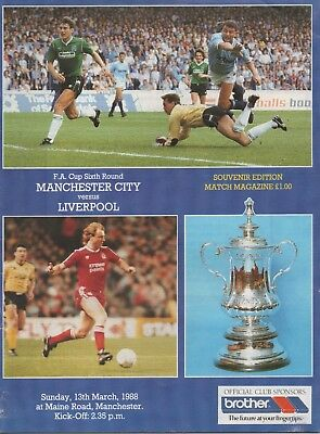 MANCHESTER CITY v LIVERPOOL 13.03.88 F.A.CUP