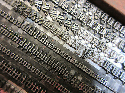 Letterpress Lead Type 24 Pt. Wedding Text ATF # 141   J69