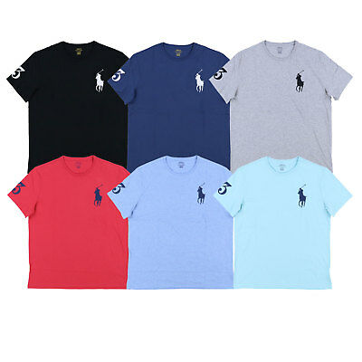 Polo Ralph Lauren Mens Crew Neck T Shirt Embroidered Big Pony Logo