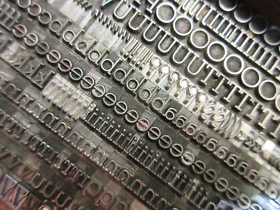 Letterpress Lead Type 18 Pt. Stymie Light   J71