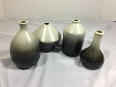 Vintage Centennial Clay Co Stoneware Pottery Bottles Set Of 4 Denver Colorado