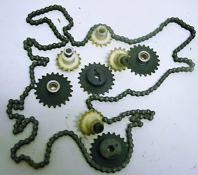 Drive Chain and  and (8) Sprockets for Control Applications