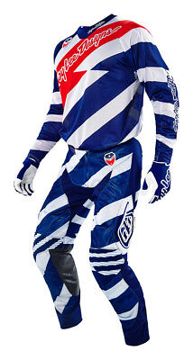 Troy Lee Designs SE Air Caution Jersey&Pants Combo White / Navy